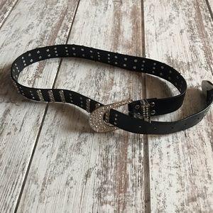 Western belt in black